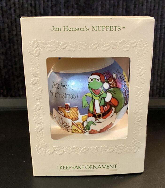 "1981 Vintage Hallmark Unbreakable Satin Ornament ""Muppets"" By Jim Henson QX807-5"
