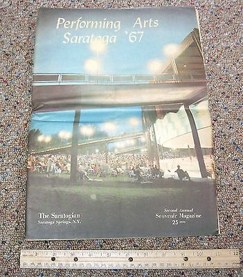 Saratoga Performing Arts Center 1967 Souvenir Magazine-Program-NY Saratogian