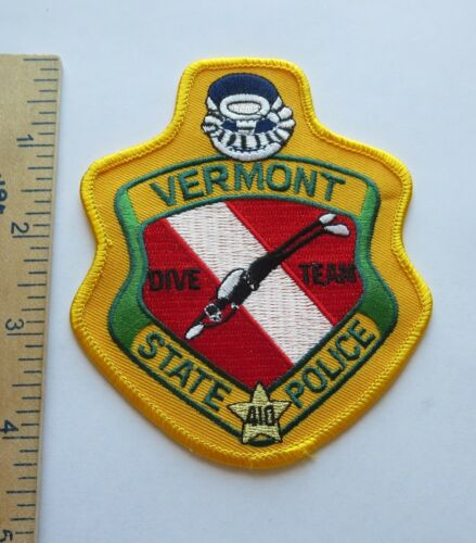 VERMONT STATE POLICE DIVE TEAM PATCH Vintage Original