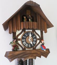 GERMAN ANTON SCHNEIDER BLACK FOREST 2 TUNE MUSIC DANCERS CHALET CUCKOO CLOCK!