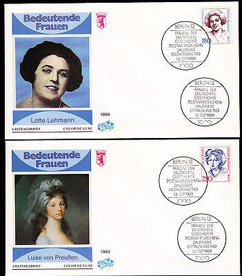 Berlin 844-45 FDC, Freimarken Lotte Lehmann + Luise von Preußen