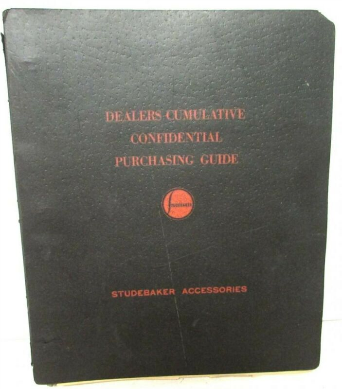 1939-40 Studebaker Confidential Dealer Optional Equipment Accessories Price Book