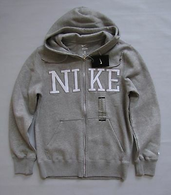 Nike Men's Gray Hoodie Small full Zip Sweatshirt Fleece Hooded Jacket NEW 446576