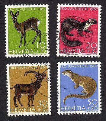 Switzerland: PRO JUVENTUTE 1967 Children's Fund; Animals; compl. set fine used