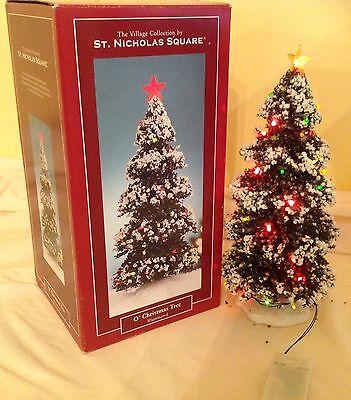 "ST. NICHOLAS SQUARE VILLAGE 12"" LIGHTED CHRISTMAS TREE Accessory"