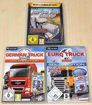 3 PC SPIELE SAMMLUNG GERMAN TRUCK GOLD EURO TRUCK AMERICAN TRUCK SIMULATOR (Truck Simulator Pc Spiele)