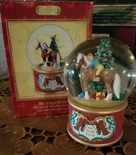 BREYER MY FIRST PONY MUSICAL SNOW GLOBE - NIB!