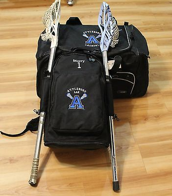 PERSONALIZED LACROSSE BACKPACK BAG With Dual Stick Holders FREE EMBROIDERY