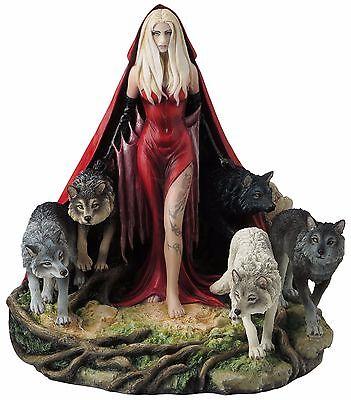 Wölfe Zauberin Figur Statue Wicca Hexen Magie Skulptur Ruth Thompson 708-7048