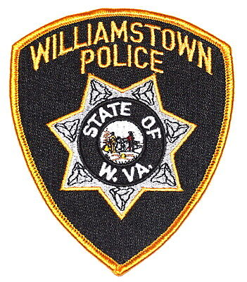 WILLIAMSTOWN WEST VIRGINIA VA Police Sheriff Patch STATE SEAL RIFLES ~