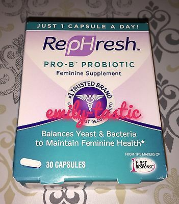 Rephresh Pro B Probiotic Feminine Supplement 30 Capsules Exp July 2018 New