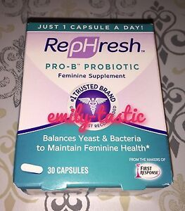 RepHresh Pro-B Probiotic Feminine Supplement 30 Capsules Exp JUNE 2019 NEW