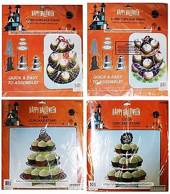 MOMENTUM BRANDS Party Decoration CUPCAKE STAND Three Tier HALLOWEEN *YOU CHOOSE*