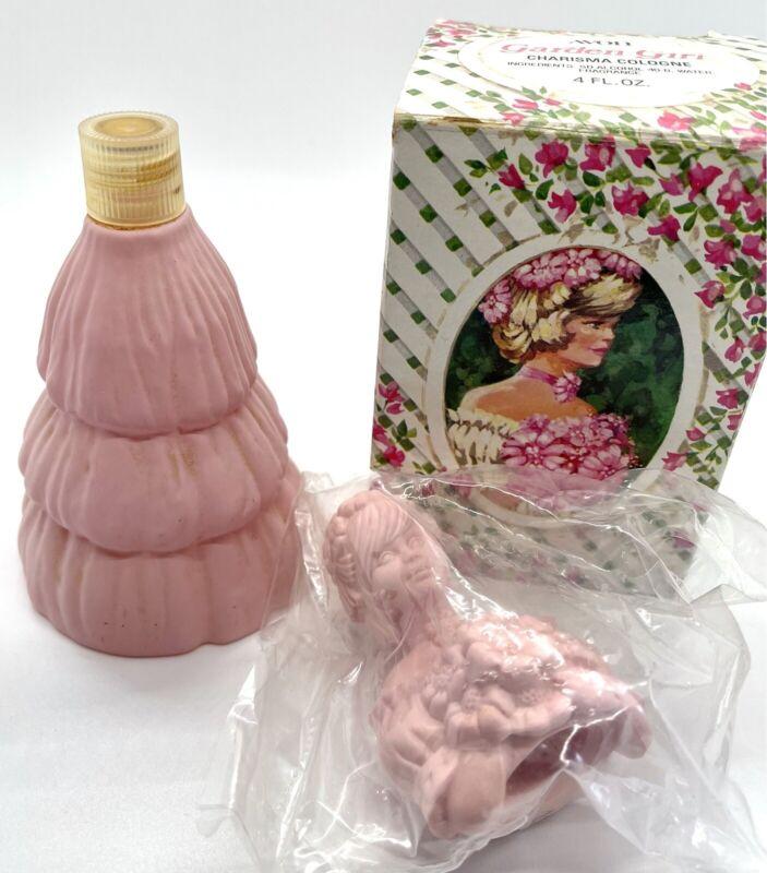 Vintage Avon Garden Girl Charisma Cologne/Perfume Bottle & Box Half Full