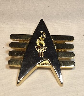 Rare 1996 Atlanta Olympic Star Trek Enterprise Communicator Badge Pin TNG