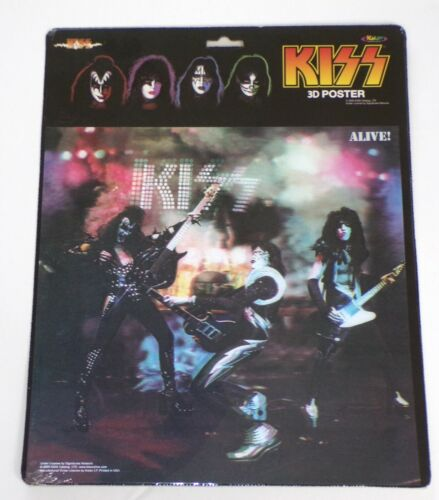 KISS Band 3-D Poster Alive Album Artwork 12x12 Sealed 2005 Gene Simmons Frehley