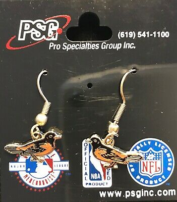 Baltimore Orioles Primary Logo J Hook Earrings NEW Primary Logo Earrings
