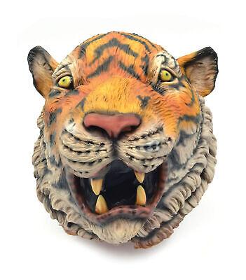 Herren mit Kapuze Tiger Gesichtsmaske Realistische Kostüm Dschungel - Realistische Tiger Kostüm
