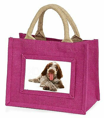 Italian Spinone Dog Little Girls Small Pink Shopping Bag Christmas Gi, AD-SP2BMP