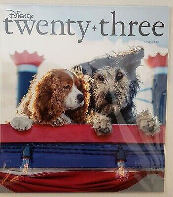 Disney D23 Twenty Three Magazine Fall 2019 Lady and the Tramp Live Action SALE