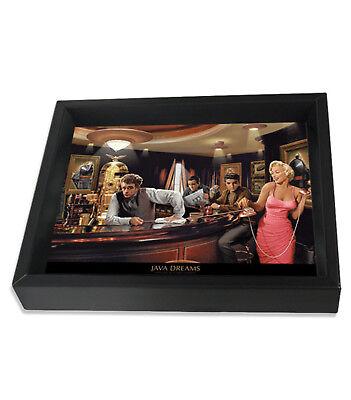 Java Dreams Chris Consani 8X10 3D Shadowbox Elvis Marilyn Monroe James Dean Icon
