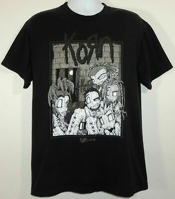 Korn Sick & Twisted 2000 Tour Concert Heavy Metal Band T Shirt Size Large Black