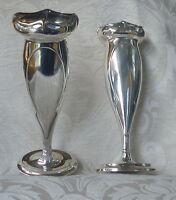 Vasi Coppia Art Nouveau Liberty Sheffield Silver Plated Posy Vases 1911 -  - ebay.it