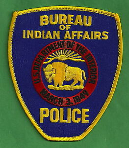 bia bureau of indian affairs tribal police patch ebay. Black Bedroom Furniture Sets. Home Design Ideas