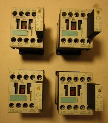 Lot of (4) Siemens Contactors 3RT1016  1BB42