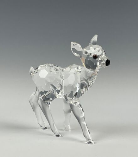 Swarovski Crystal Baby Deer Fawn Figurine Mint In Box!!