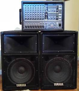 PA System Yamaha EMX88s 800 watt Powered Mixer with Speakers Mortdale Hurstville Area Preview