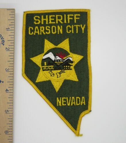 CARSON CITY NEVADA SHERIFF PATCH Vintage Original