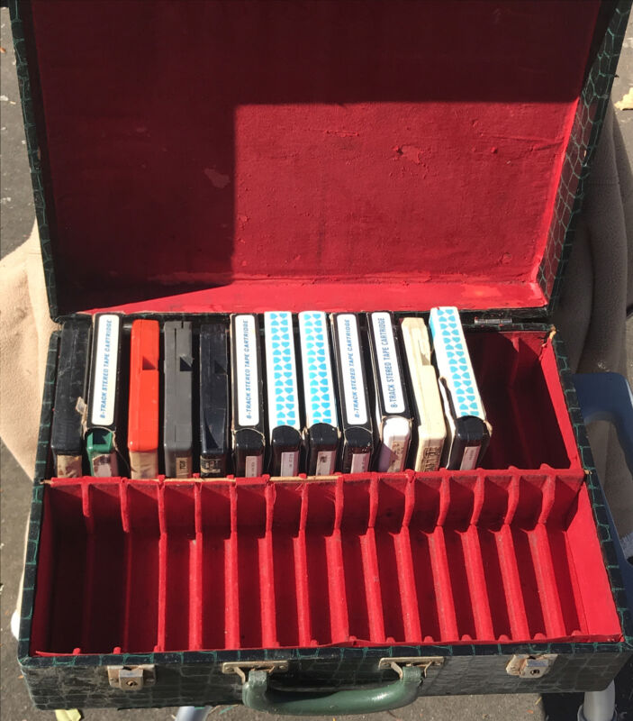8-Track Lot With Case of 12 Rock Classics-KISS, The Police, Air Supply & More!