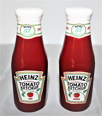 Heinz Tomaten Ketchup Salz und Pfeffer Streuer in Ketchup Flaschenform NEU OVP