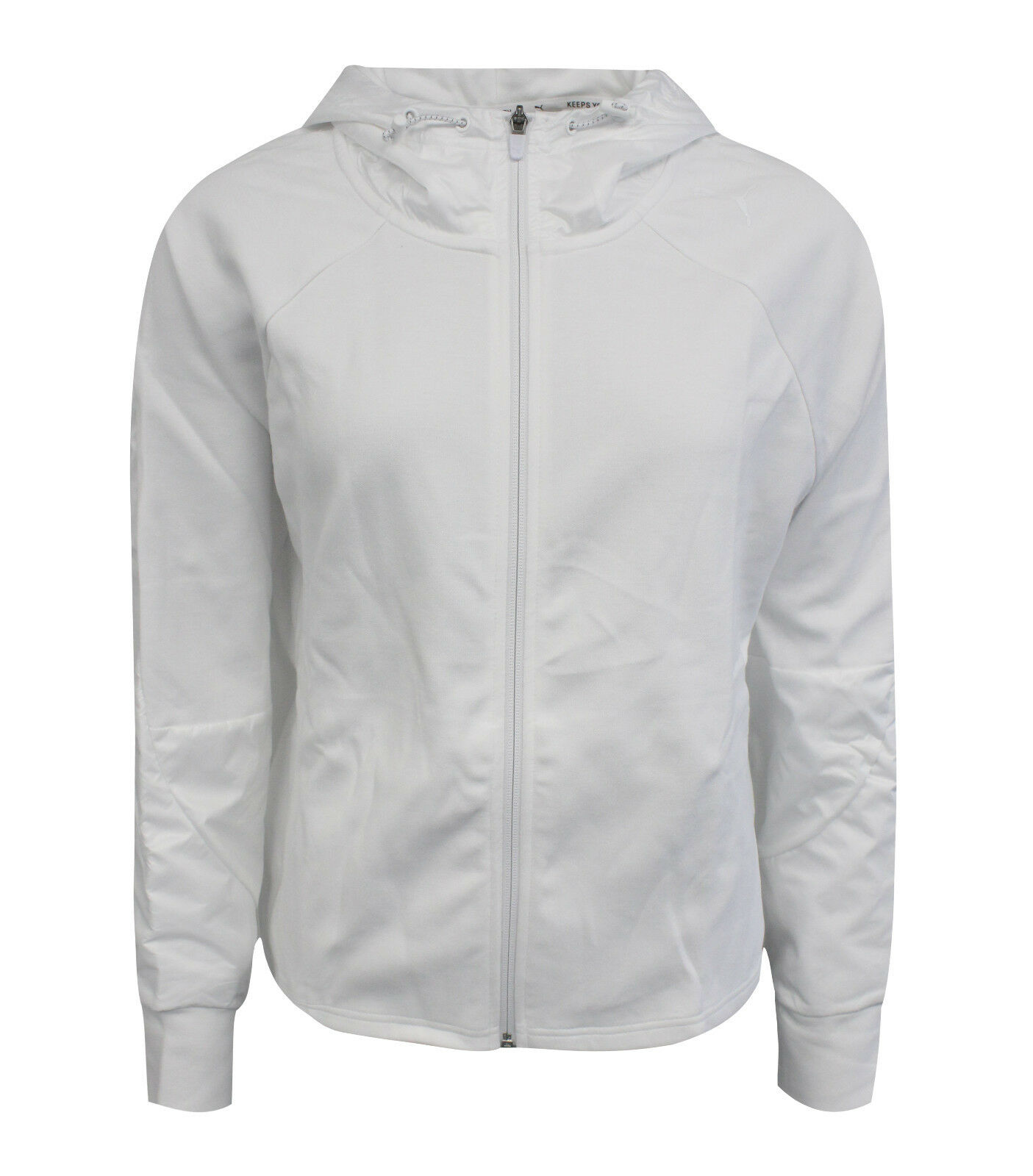 Puma Evostripe Lite Full Zip Womens Hooded Jacket White 853259 03 Y10A