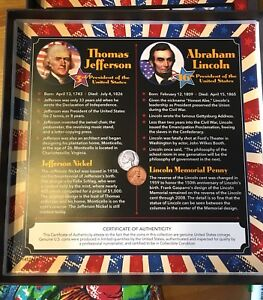 Tic tac toe coin set Jefferson Nickel Lincoln memorial penny