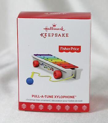2017 Hallmark Keepsake Ornament PULL-A-TUNE XYLOPHONE, Fisher Price, New
