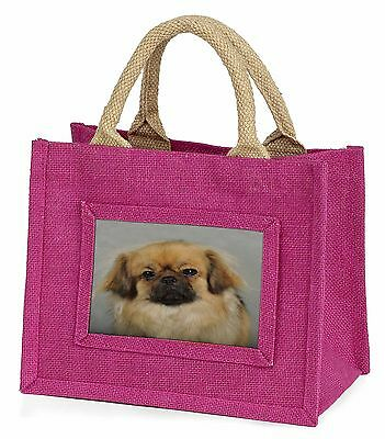 Tibetan Spaniel Dog Little Girls Small Pink Shopping Bag Christmas Gi, AD-TS2BMP
