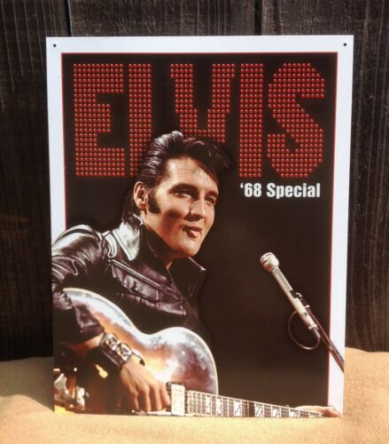 Elvis Presley 68 Concert Special Tin Metal Sign Wall Garage Classic Bar