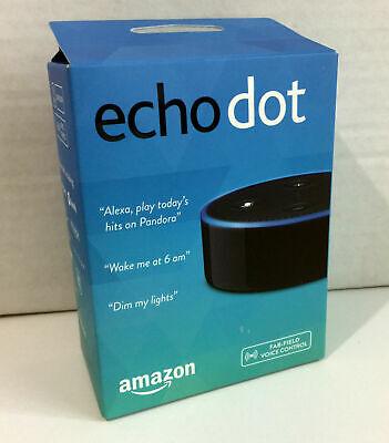2x Amazon Echo Dot 2nd Generation w/ Alexa Voice Media Device - BRAND NEW!!!