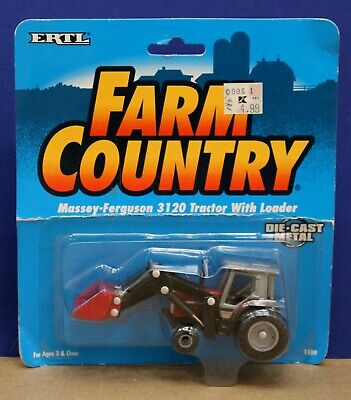 Ertl Farm Country 1109 1:64 Massey Ferguson 3120 Tractor w Loader MOC 1994