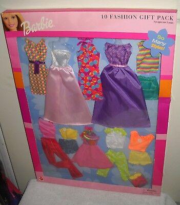 #9657 RARE NRFB Walmart Stores Mattel Barbie 10 Fashion Gift Pack