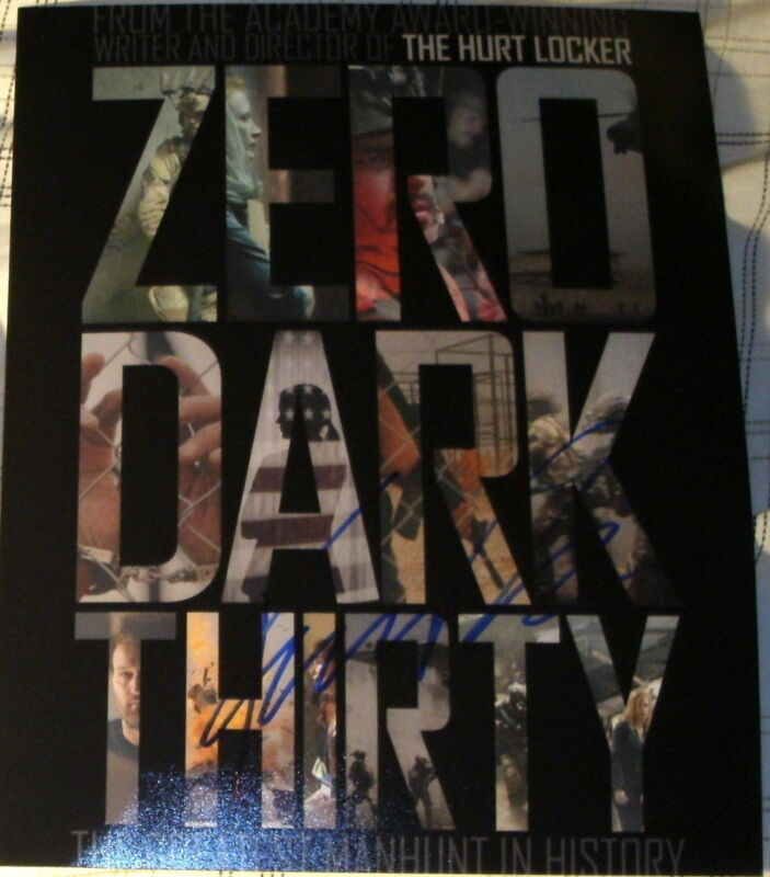 """KATHRYN BIGELOW SIGNED AUTOGRAPH """"ZERO DARK THIRTY"""" OFFICIAL POSTER 8X10 PHOTO"""
