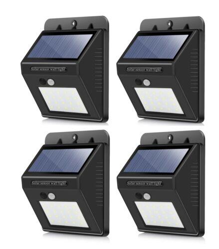 Outdoor 20 LED Solar Wall Lights Power PIR Motion Sensor Garden Yard Path Lamp Home & Garden