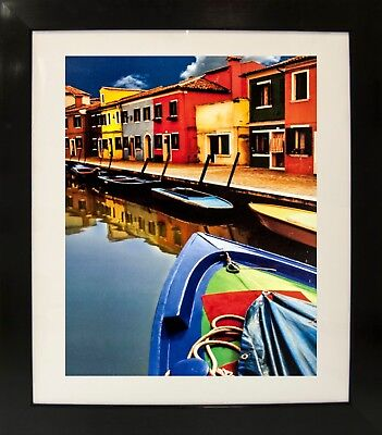 Burano II (Home/Photograph/Landscape/Abstract/River/Boat) Framed