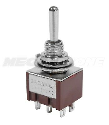 New Dpdt Mini Toggle Switch On-on-on Solder Lug Premium Quality - Usa Seller