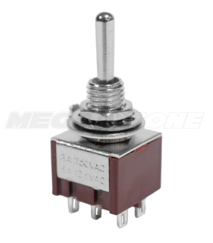 NEW DPDT Mini Toggle Switch ON-ON-ON Solder Lug Premium Quality - USA Seller!!!