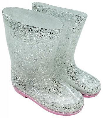 Mädchen Glitzer Sparkle Gummistiefel UK Kind Schuhe Größen 4 Sich 11