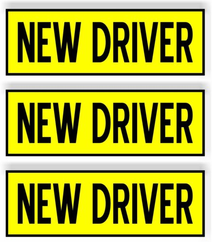 """SET OF 3 NEW Driver  Car MAGNET Magnetic Bumper Sticker safety 8.25"""" x2.75"""""""