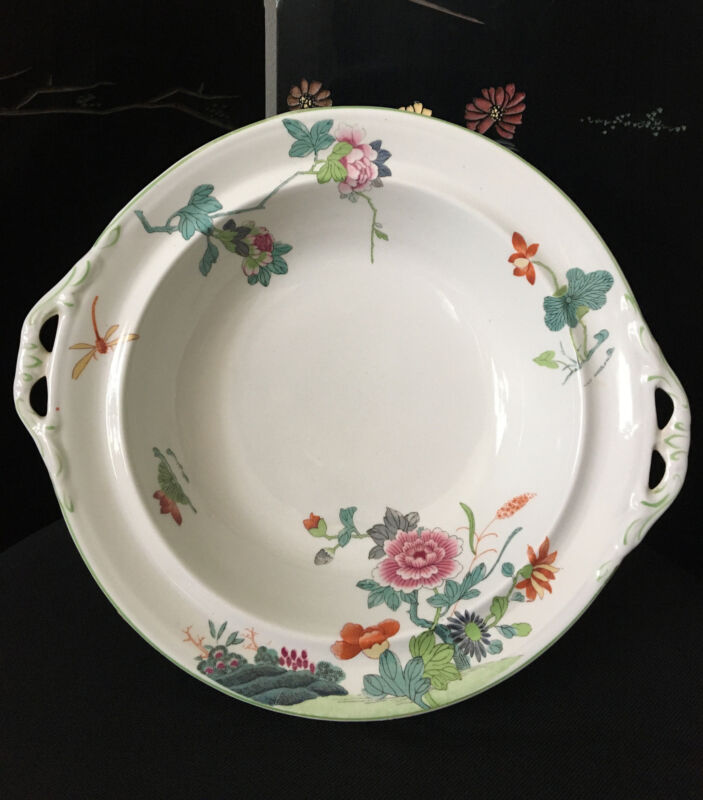 Woods & Sons Asian Floral Dragonfly Bowl, Medium